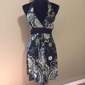 Cute Paisley Halter Top Dress